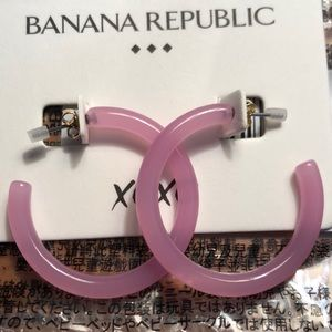 Banana Republic Neon Resin Hoop Earrings